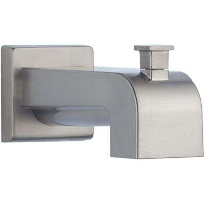 Arzo and Vero 7-1/8 in. Pull-Up Diverter Tub Spout in Stainless