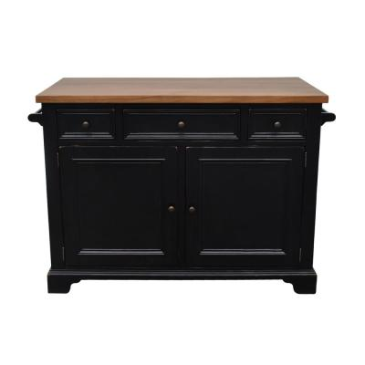 Hamilton Black Kitchen Island