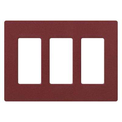Claro 3 Gang Decorator Wallplate, Merlot