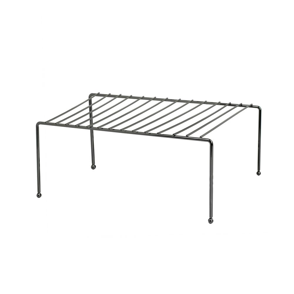 Home Basics 10.50 in. W x 11.50 in. D Onyx Helper Shelf
