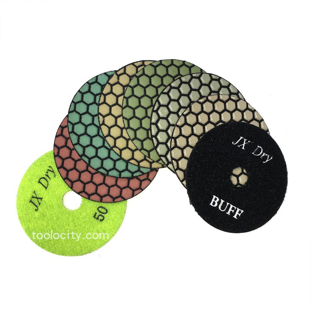 """Black Buff 4/"""" Shine-Plus Dry Diamond Polishing Pad"""
