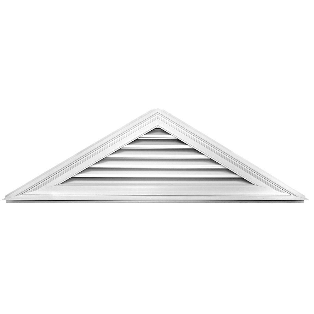 Builders Edge 7/12 Triangle Gable Vent #001 White