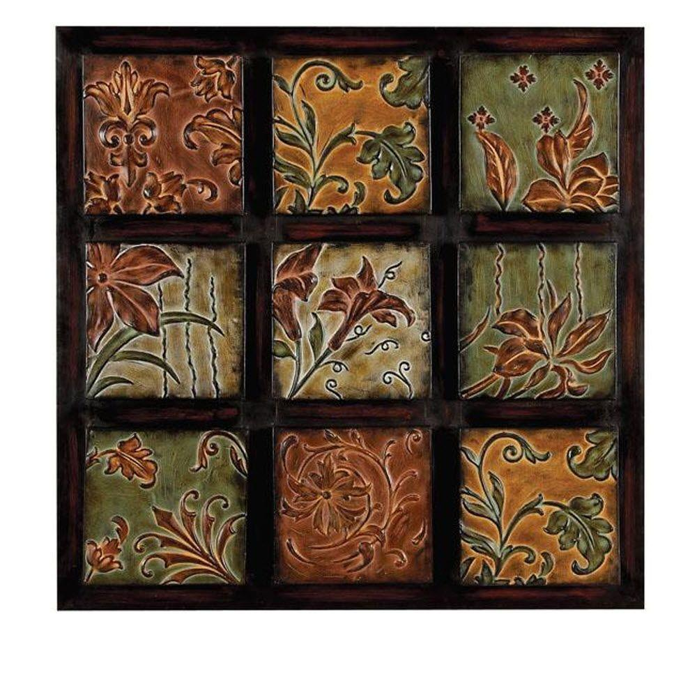 32 In Multi Colored Metal Wall Decor 99207 The Home Depot
