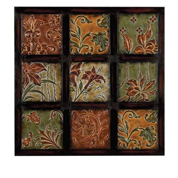 undefined 32 in. Multi-Colored Metal Wall Decor