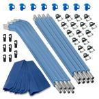Trampoline Replacement Enclosure Poles and Hardware (Set of 8 Net Sold Separately)
