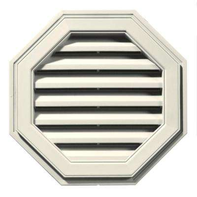 22 in. Octagon Gable Vent in Parchment