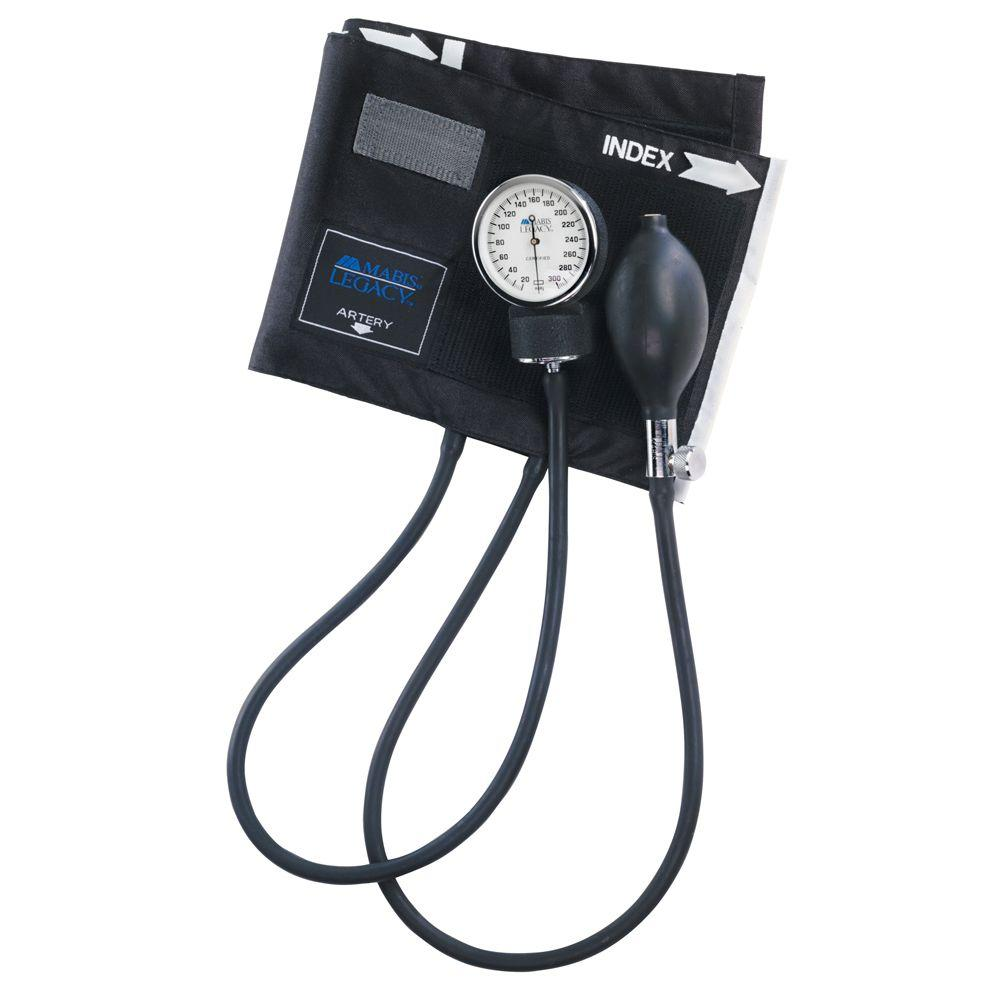Legacy Latex-Free Aneroid Sphygmomanometers with Black Nylon Cuff for Large