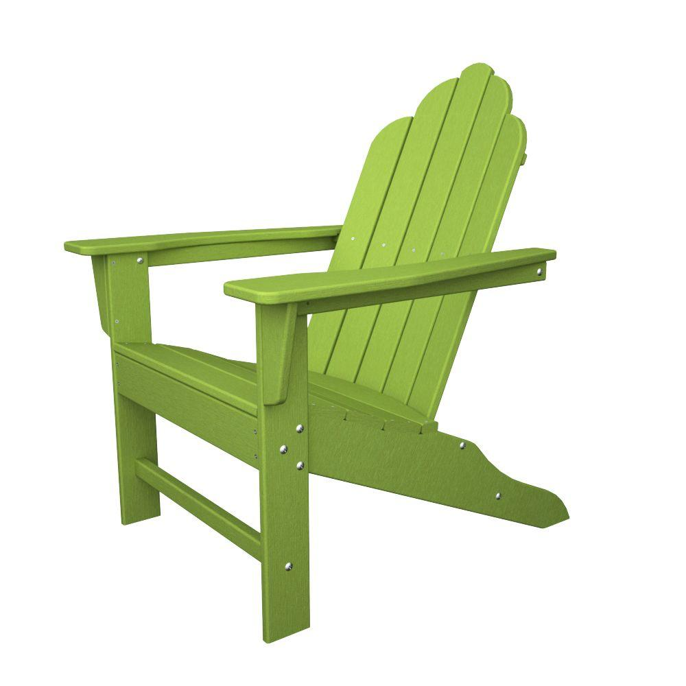 Long Island Lime Plastic Patio Adirondack Chair