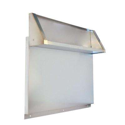 Tall Backguard with Dual Position Shelf for 36 in. Range or Cooktop