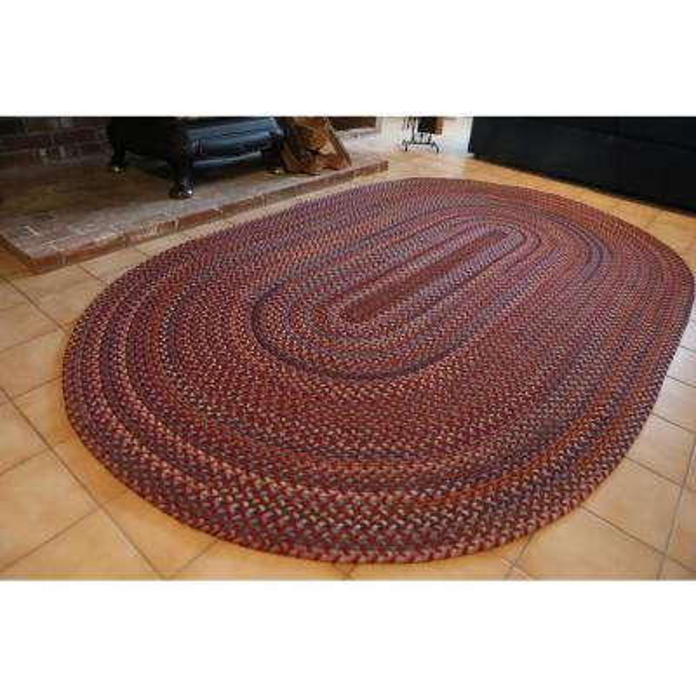 Oval Indoor Braided Area Rug