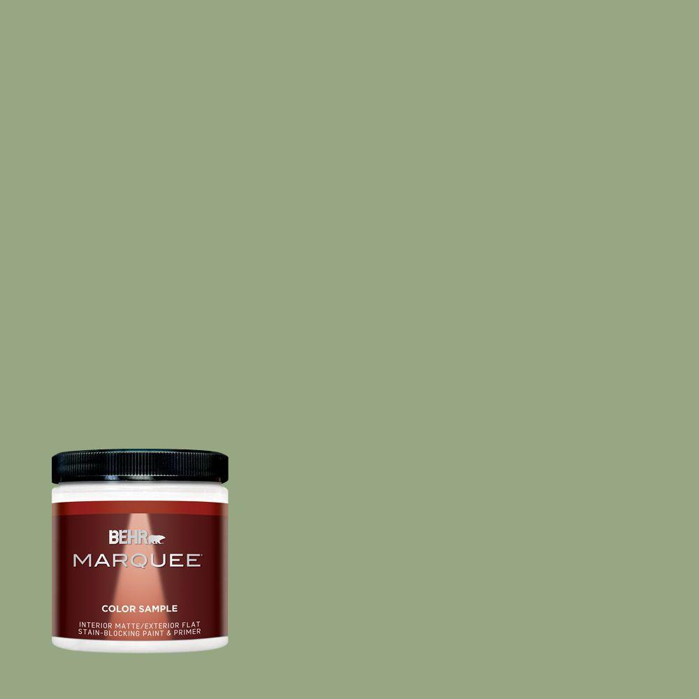 8 oz. #M380-5 Hillside Grove Matte Interior/Exterior Paint and Primer Sample