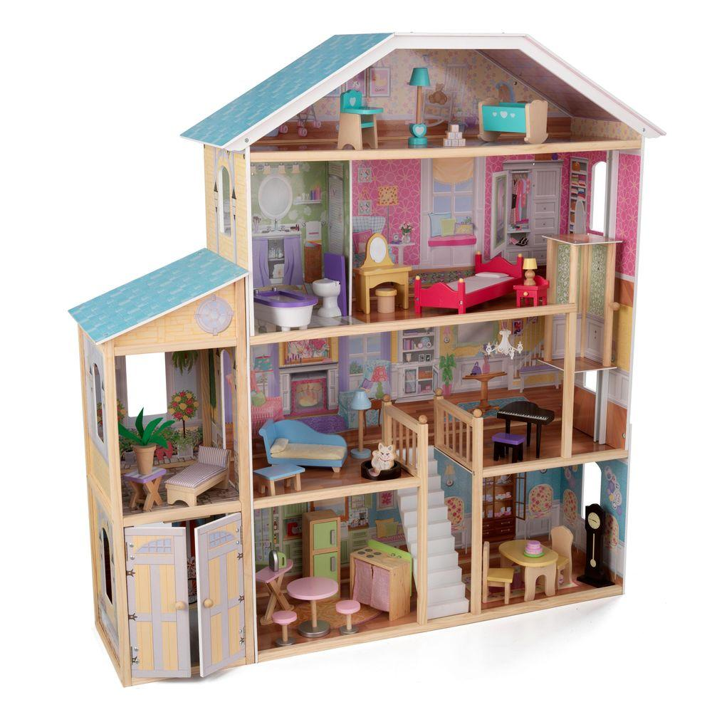 Exceptional KidKraft Majestic Mansion Dollhouse Play Set