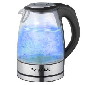 MegaChef 7 Cups 1.7 l Glass and Stainless Steel Electric Tea Kettle by