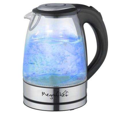 MegaChef 7 Cups 1.7 l Glass and Stainless Steel Electric Tea Kettle