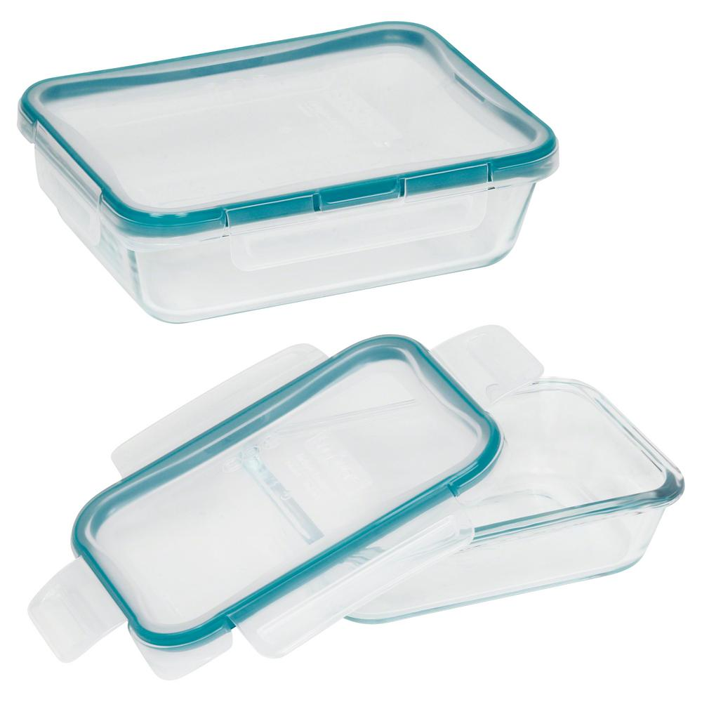 Snapware Total Solution Glass Food Storage 4 Piece Rectangle Value