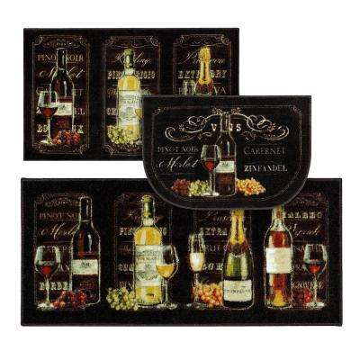 Chalkboard Sign Multi 3 ft. x 4 ft. 3-Piece Indoor Rug Set