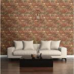 NuWallpaper 30.75 sq. ft. Red West End Brick Peel and Stick Wallpaper