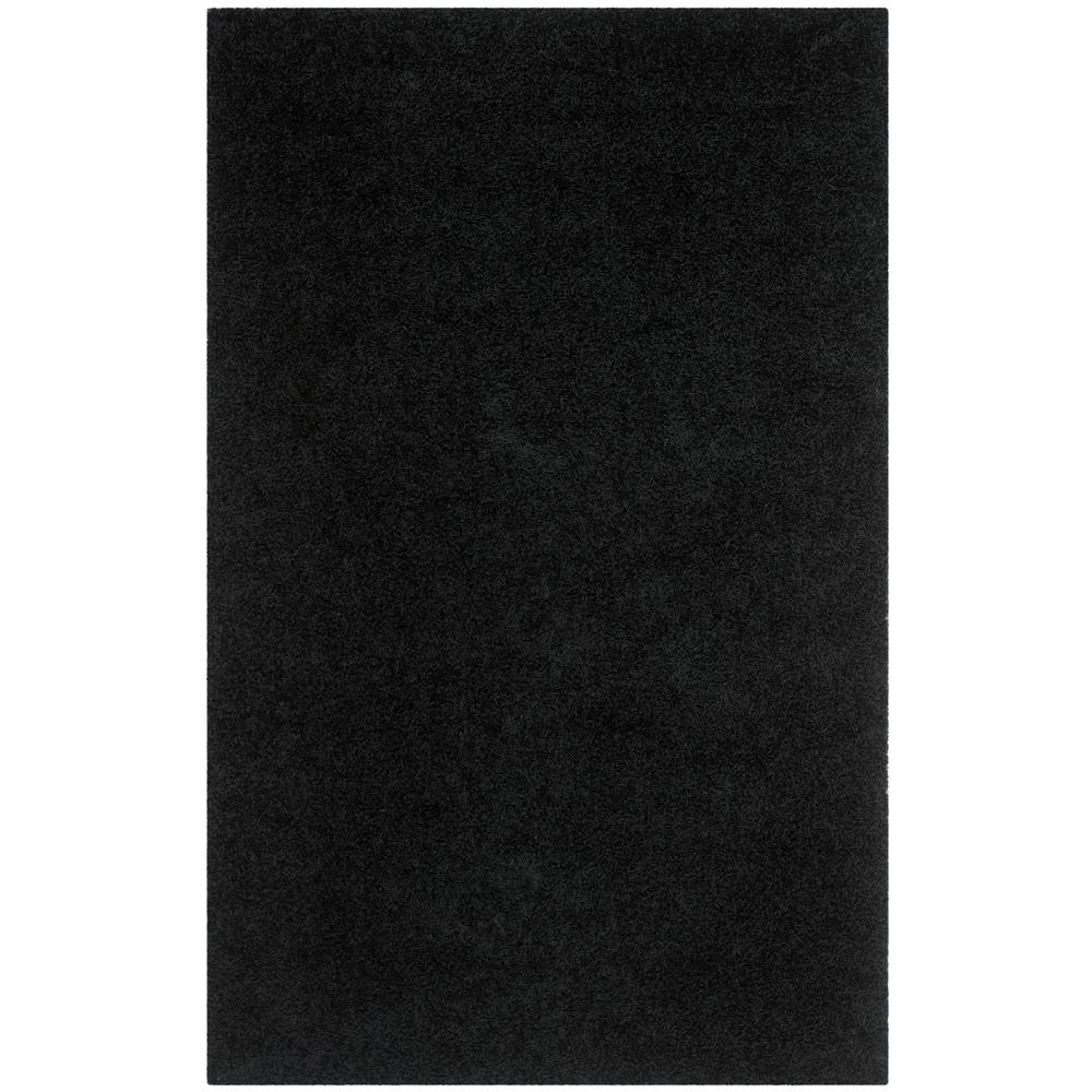 Monterey Shag Black 4 ft. x 6 ft. Area Rug