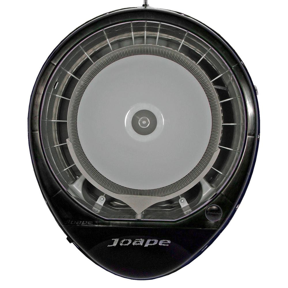 Cyclone 23 in. Wall Mount Misting Fan in Black, Cools 800