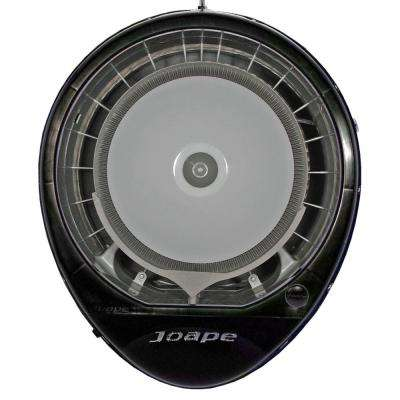 Cassino 23 in. Wall Mount Misting Fan in Black Cools 800 sq. ft.