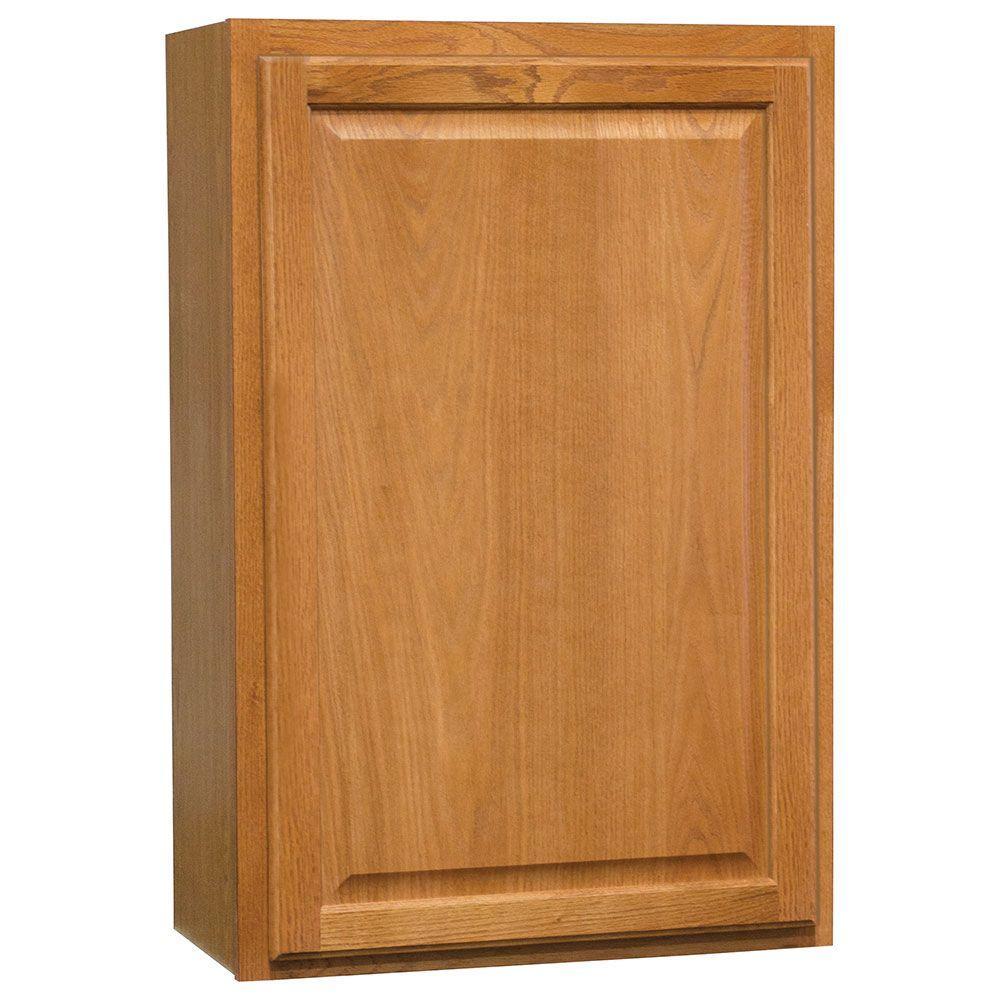 Medium Oak Kitchen: Hampton Bay Hampton Assembled 24x36x12 In. Wall Kitchen