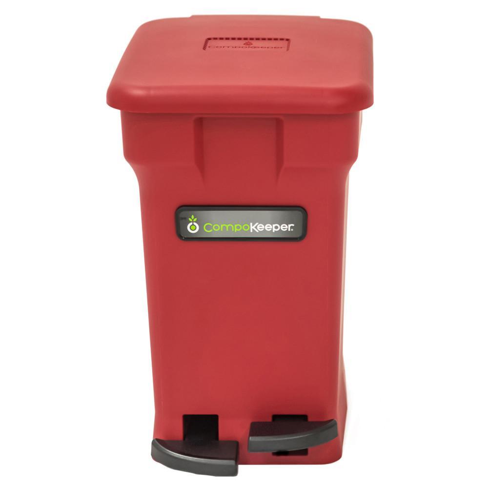6 Gal. Red Hands Free Indoor Compost Bin