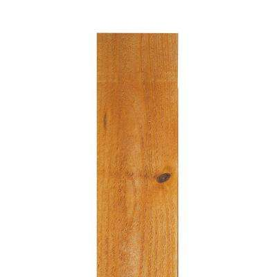 1 in. x 6 in. x 6 ft. Western Red Cedar Flat Top Fence Picket (8-Pack)