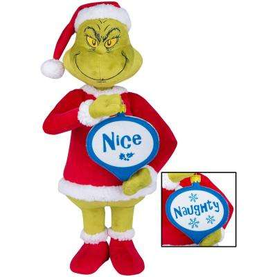 24 in. Holiday Greeter- Ginch with Naughty and Nice Ornament OPP - Dr. Seuss