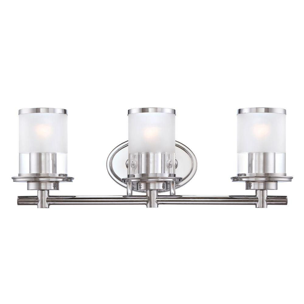 bathroom vanity lights chrome finish. Designers Fountain Essence 3 Light Chrome Interior Incandescent Bath Vanity