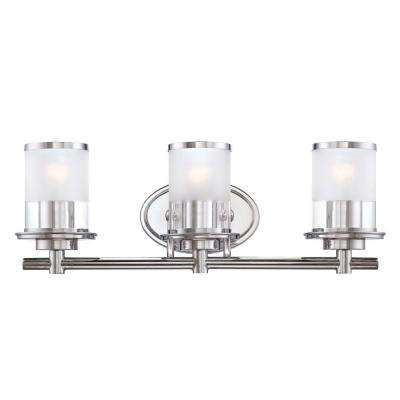 Essence 3-Light Chrome Interior Incandescent Bath Vanity Light