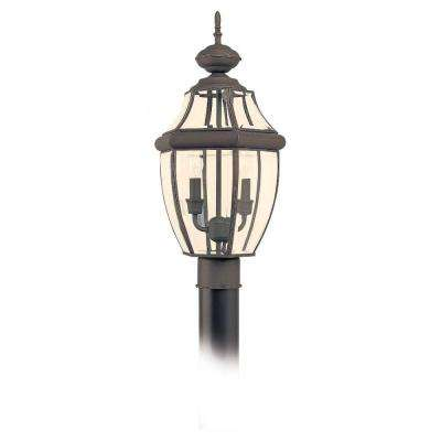 Lancaster 2-Light Outdoor Antique Bronze Post Top