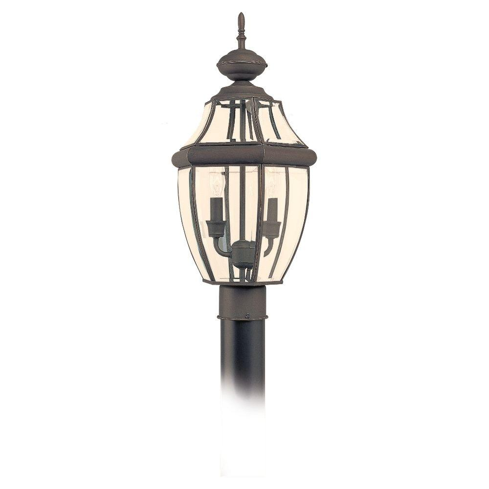 Sea Gull Lighting Lancaster 2-Light Outdoor Antique Bronze Post Top