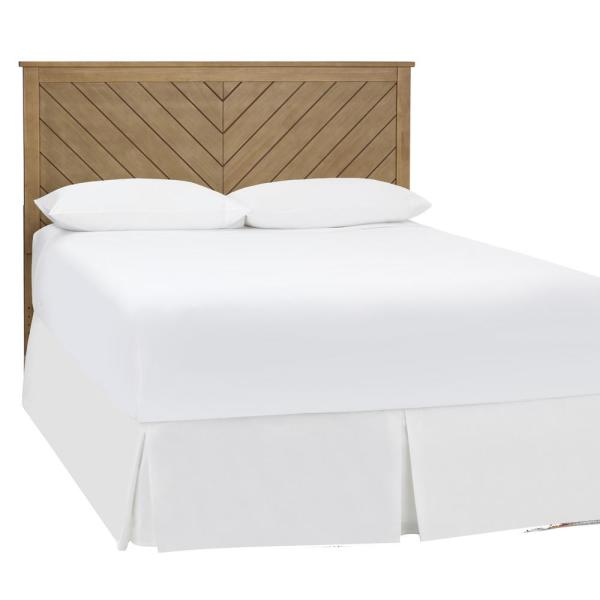 Stylewell Colemont White Wood Curved Back Full Size Headboard 56