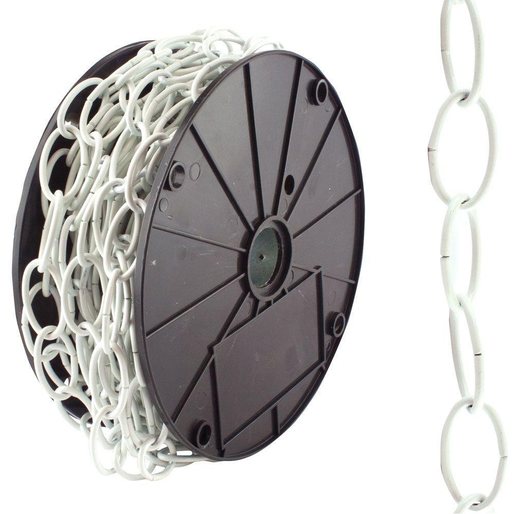 Everbilt #2/0 x 50 ft. Decorator Steel Chain, White