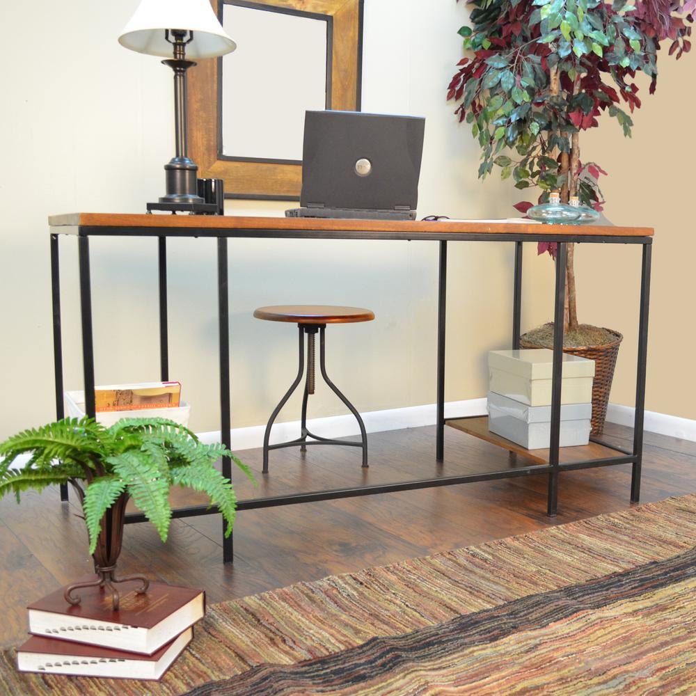 Brayden Chestnut Desk with Shelves