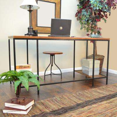 Brayden Chestnut Desk with Shelves