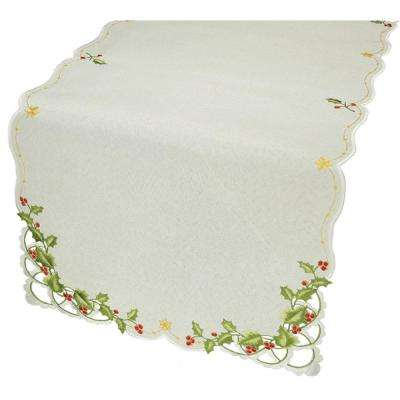 0.1 in. x 16 in. x 34 in. Winter Berry Collection Christmas Table Runner