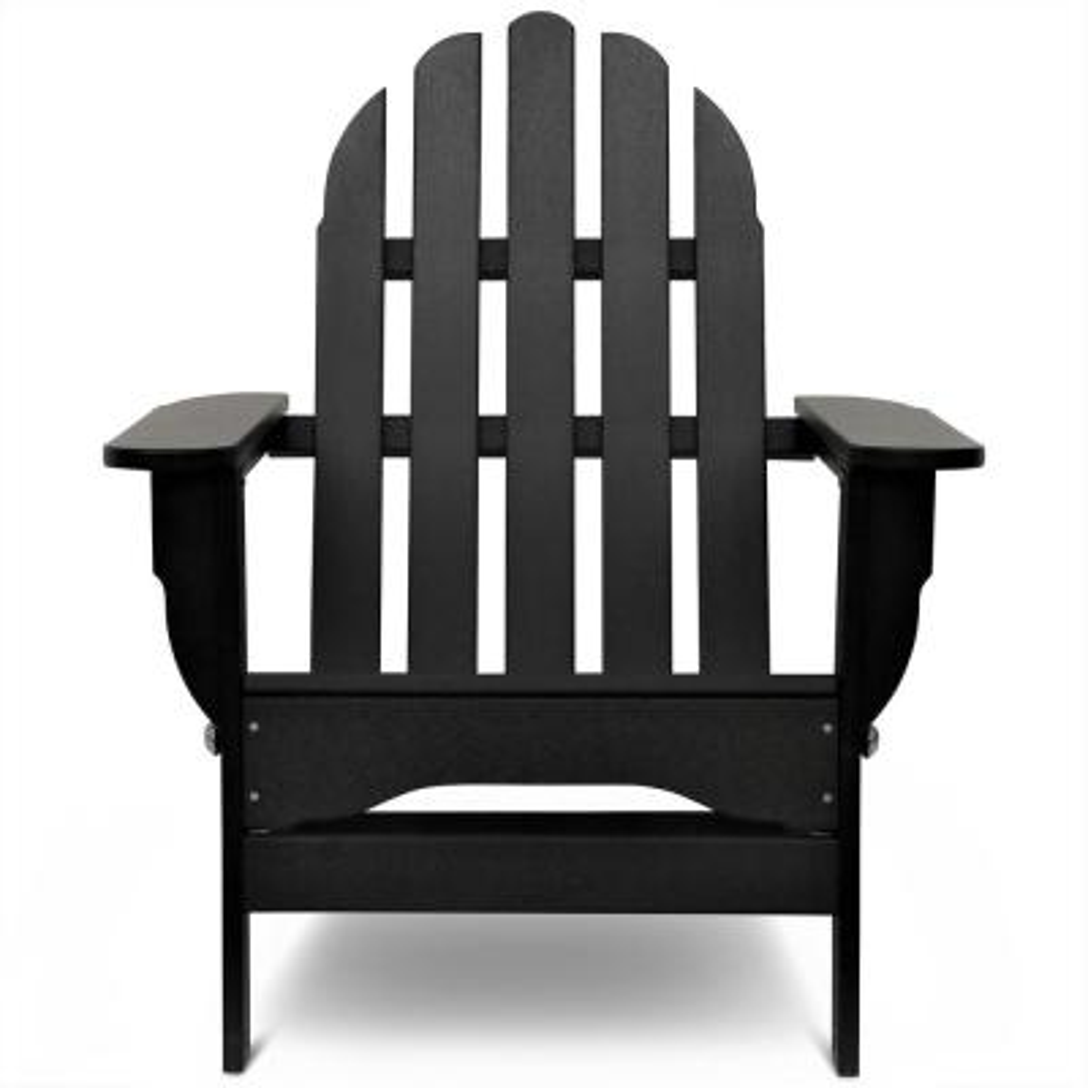 Icon Black Plastic Folding Adirondack Chair