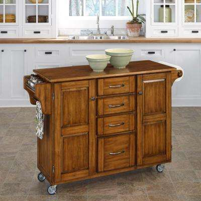 Create A Cart Warm Oak Kitchen With Towel Bar