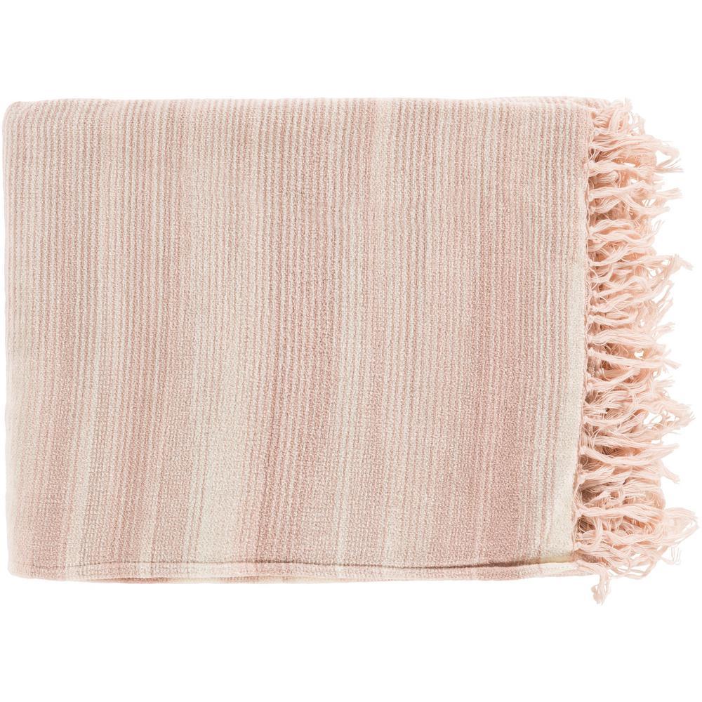 Simonov Pale Pink Cotton Throw