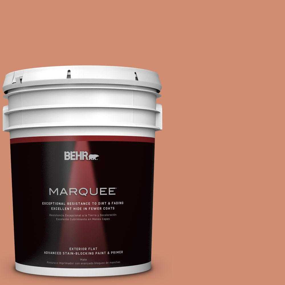 BEHR MARQUEE 5-gal. #ICC-63 Terra Cotta Pot Flat Exterior Paint