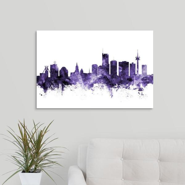GreatBigCanvas ''Essen Germany Skyline'' by Michael Tompsett Canvas Wall Art