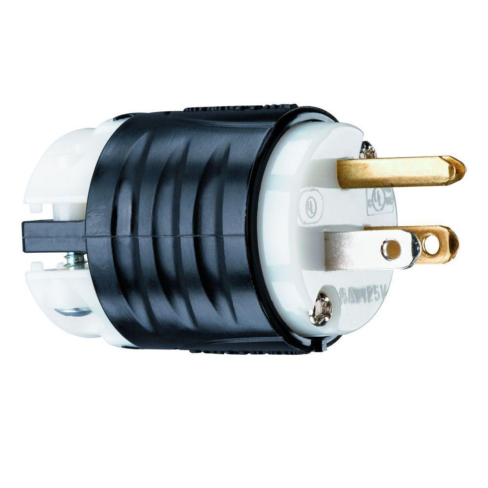 Legrand Pass & Seymour Extra-Hard Use 15 Amp 125-Volt NEMA 5-15P Straight Blade Plug