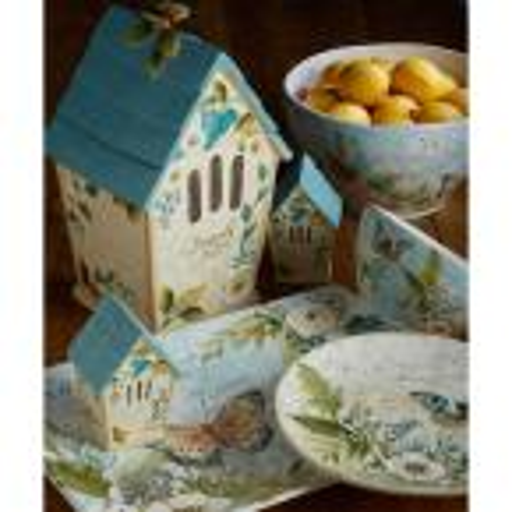 88 oz. Nature Garden 3-D Birdhouse Multicolored Cookie Jar