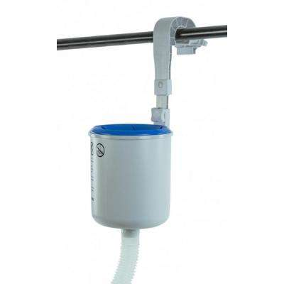 18.5 in. Adjustable Wall Mounted Pool Surface Skimmer with Hooks