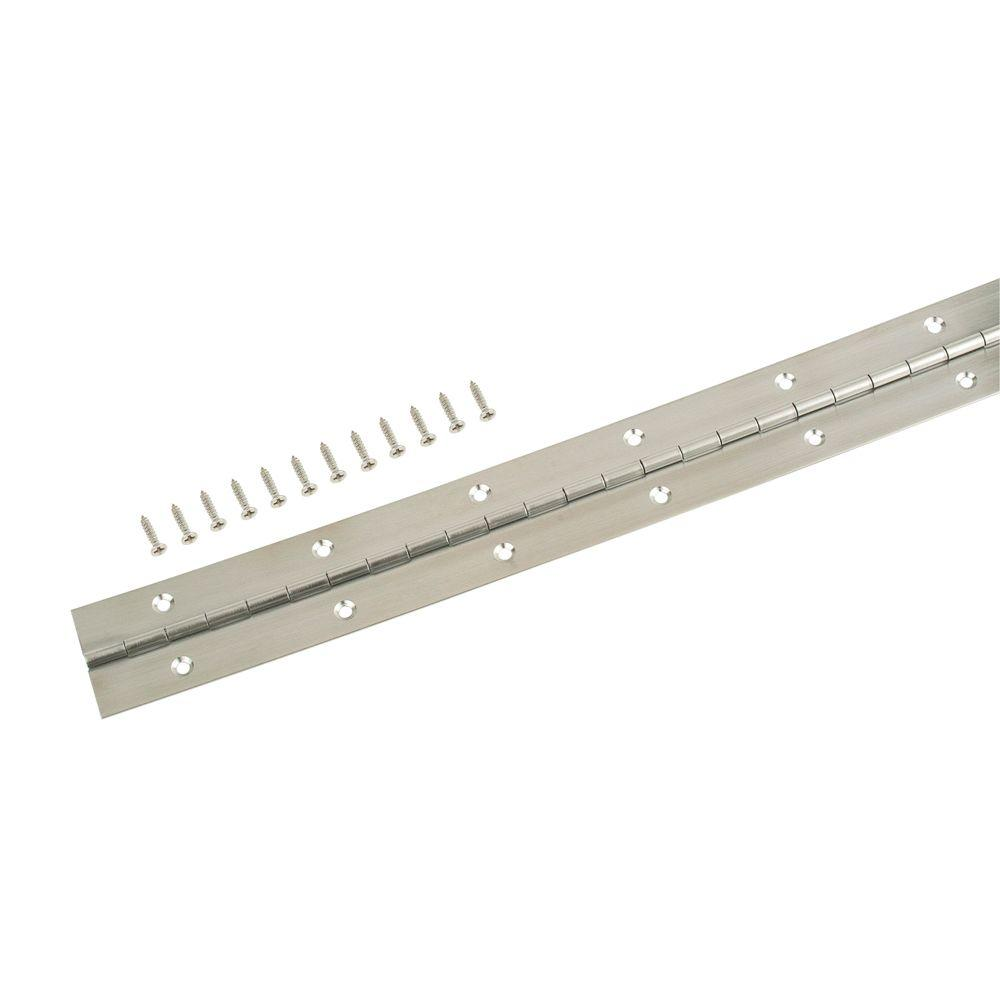 Everbilt 1-1/2 in. x 48 in. Stainless Steel Continuous Hinge
