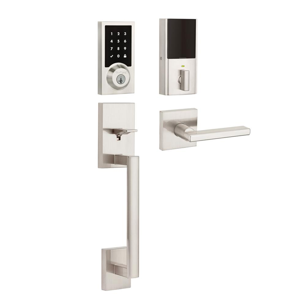SmartCode 915 Contemporary Satin Nickel Electronic Deadbolt with San Clemente