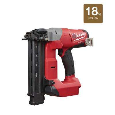 M18 FUEL 18-Volt Lithium-Ion Brushless Cordless18-Gauge Brad Nailer (Tool Only)