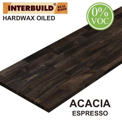 Acacia 8 ft. L x 25 in. D x 1.5 in. T Butcher Block Countertop in Espresso Stain