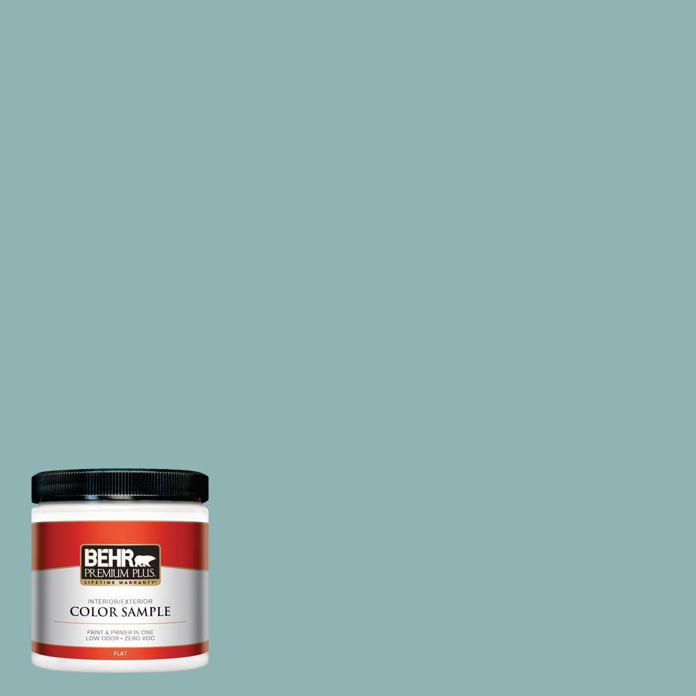 8 oz. #BIC-24 Artful Aqua Interior/Exterior Paint Sample